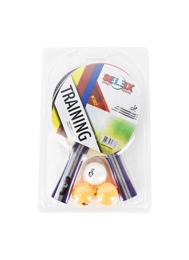 Selex Selex 2'li Raket ve 3'lü Tenis Topu Masa Tenisi Seti Renkli